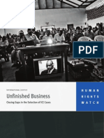 International Justice Unfinished Business