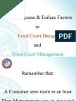 Critical Success %26 Failure Factors in Food Court Design %26 Management