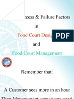 Critical Success %26 Failure Factors in Food Court Design %26 Management
