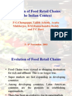 Evolution of Food Retail Chains in India