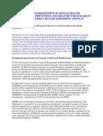 Draft Behavioral Health Plan 2012 SAPT Block Grant