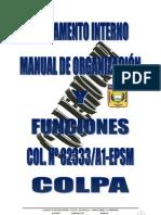 REGLAMENTO INTERNO Y MANUAL DE ORGANIZACIÓN-COLPA