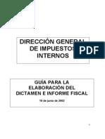 GuÍa Dictamen e Informe Fiscal 19-06-2002