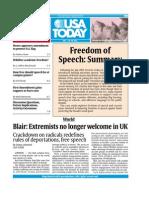 Freedom of Speech Article