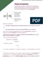 Physics of Capacitors