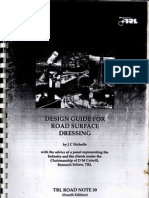 Design Guide for Road Surface Dressing by j c Nicholls (4th Ed)