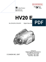 CANON HV20 E (iPAL) Parts List, Service Manual