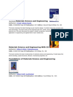 Book Details Materials Science and Engineering