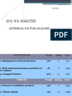 Efe Ife Analysis