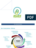 Ojas Testing Solutions - Automation Offering v 0.8