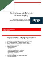 Housekeeping Sanitation and Safety