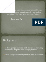 Impact of Brand Consciousness, Normative Influence, Emotional Value and Perceived Quality on Purchase Intention of Foreign Apparel Brands in Pakistan
