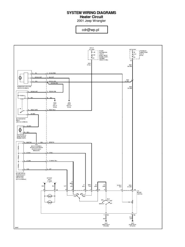 jeep wrangler tj 2001 wiring cars of the united states. Black Bedroom Furniture Sets. Home Design Ideas