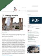 Les étudiants étrangers délaissent l'Europe