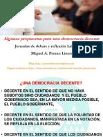 Algunas reformas para una democracia decente - Ponencia de Miguel Presno - Jornadas Laboral UPyD 2011