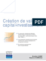 Creation de Valeur Et Capital-Investissement