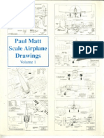 Aviation] 01 Paul Matt Scale Airplane Drawings [3 View Plans - Constuction Drawings]