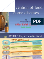 Prevention of Food Borne Diseases