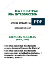 Introduccion a La Politica Educativa