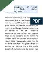 Moulana Moiz uddin Turkey Kohir