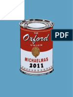 Oxford Union Term Card - Michaelmas 2011