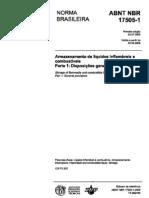 Nor NBR-17505 (2006) Armazenamento Líquidos Combustíveis e inflamáveis, COMPLETA