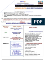 m II In Tar Active All India g s Pre Test Series 2011 25 Mock Tests Current Affairs Notes