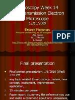 Microscopy 2009 Wk14 TEM