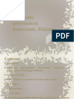 Electronic Government Directorate, Pakistan