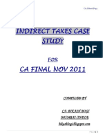 234797 41806 Case Study CA Final Indirect Taxes Nov 2011