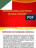INSTALACIONES ELÉCTRICAS DE BAJA TENSIÓN