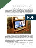 MONTAJE Y PREPARACIÓN DE UN PC PARA EL SALÓN