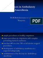 Advances in Ambulatory Anaesthesia