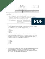 Sample Final Exam