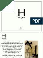 Hayden Fragrances Product Line-Up