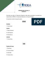 Comunicado IV / 2011