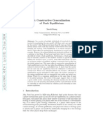 A Constructive Generalization of Nash Equilibrium