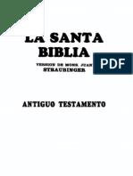 Santa Biblia Straubinger Comentada Antiguo Testamento