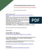 Pesquisa e Estudos Preliminares Individuais II