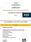 Dispositif et gestion - Cotinat - production N°2