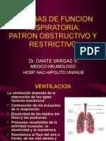Pruebas de Funcion Respiratoria Patron Obstructivo y Restrictivo