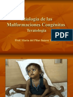 Etiología de Las Malformaciones Congénitas