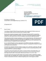 PSI Solidarity Letter