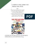 RESEÑA CRÍTICA DEL LIBRO UN MEXICANO MÁS la buena