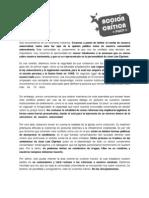 Posición de Acción Crítica presentada en la Asamblea Universitaria del 23/09
