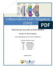 Collateralized Debt Obligation - Report