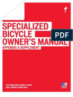 2011 Bicycle Owner s Manual Appendix