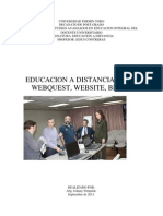 Educación a distancia, webquest,website, blogs.