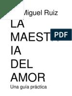 MAESTRÍA DEL AMOR. MIGUEL RUIZ