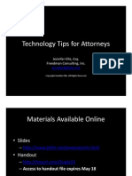 Technology Tips for Attorneys